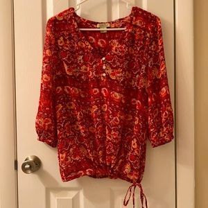 Lucky Brand sheer top, size Small.